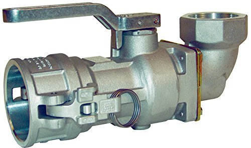 Dixon DBS61-200 Aluminum Dry Break Cam and Groove Dry Disconnect Hose Fitting, 90 Degree Swivel Elbow with Buna Seal, 2-1/2'' Socket x 2'' NPT Female