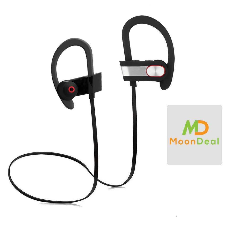 Wireless Sport Bluetooth Headset, Lightweight, Sweatproof, EarHook, for Running, Talking & Listening for Samsung Galaxy J3 (2016) PLUS GIFT [Protective Hard Carry Case&Screen Cleaner] - Silver