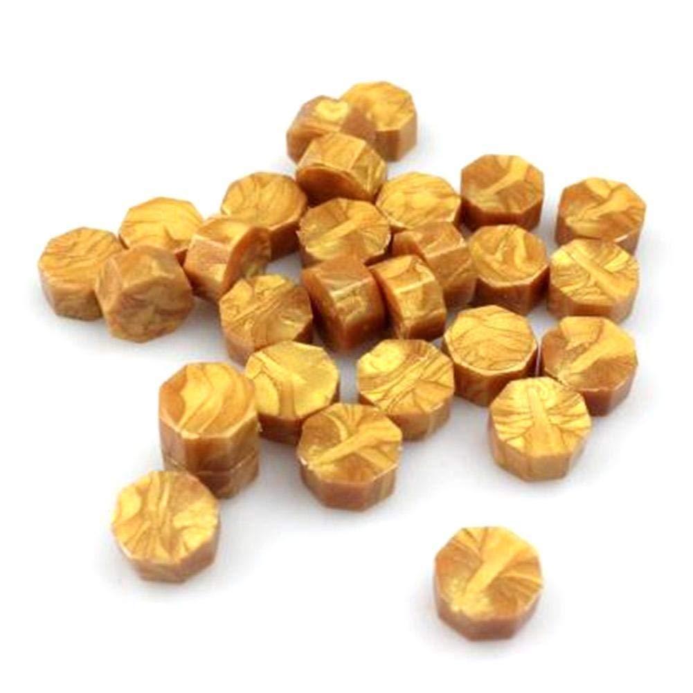 50 Kapseln LIANA IRWIN 100 St/ück Achteckige Siegellack Perlen,DIY Einladung Briefgestaltung Zubeh/ör Mischfarbenlackwachs