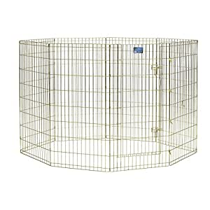 MidWest Exercise Pen with Door, 48-Inch, Gold