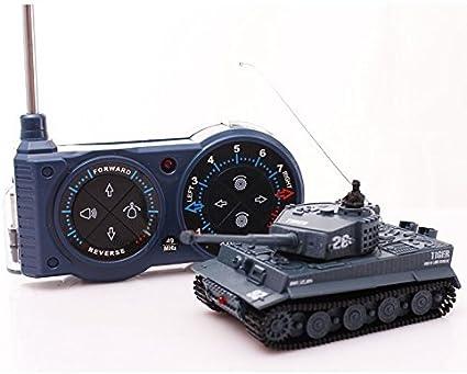 AZALLY Tiger I Panzer RC alemán con Control Remoto, batería, luz, Sonido, torreta giratoria y acción de Retroceso Cuando se dispara artillería de ...