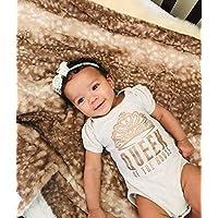 Fawn Baby Blanket, Deer blanket, Personalized Baby Blanket, Buck Baby Blanket, baby shower gift, Double Minky Plush baby blanket, Woodland Baby Blanket Gift