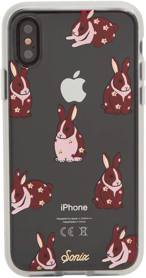 Sonix Chubby Bunny Case for iPhone X/XS [Drop Test Certified] Protective Cute Rabbits Clear Case for Apple iPhone X, iPhone Xs