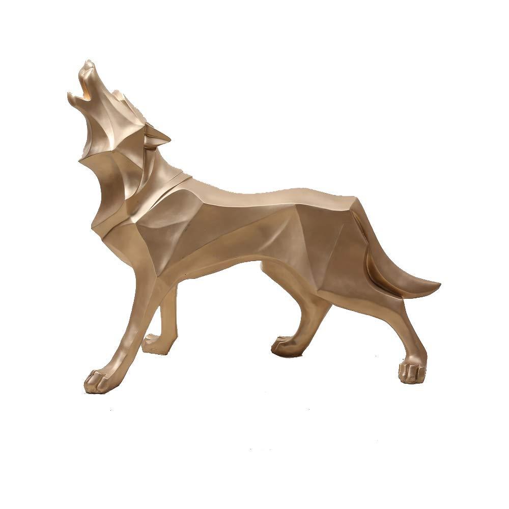 Wolf Cheetah Figurine Ornaments Home Decoration Animal Sculpture Handmade Creative Gift Statue