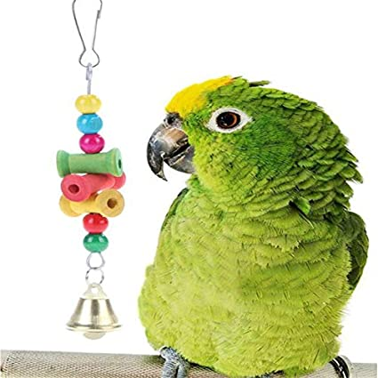 Home & Garden Parrot Toys Mini Multicolor Bird Parrot String Wooden Molars Beads Bite Toyschewing Swing Cage Accessories