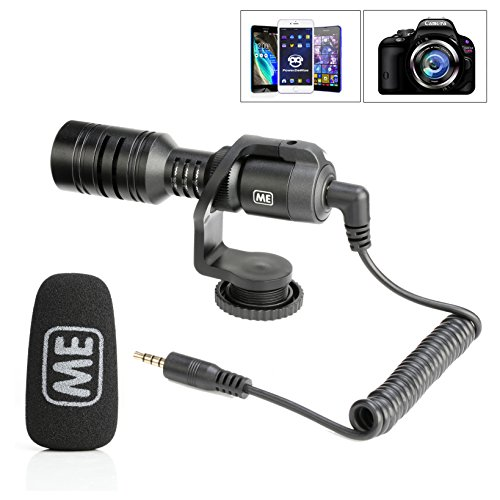 ME M1Q1 Universal Condenser Video Microphone with Shock Mount for iPhone/Andoid Smartphones, Canon EOS/Nikon DSLR Cameras and Camcorders by ME