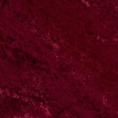Ben Textiles Stretch Panne Velvet Velour Burgundy Fabric by The Yard