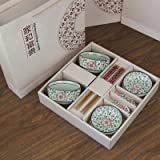 Japanese-style Creative Ceramic Tableware with Sushiset(chopsticks,bowls) By Genius Cbf(red)