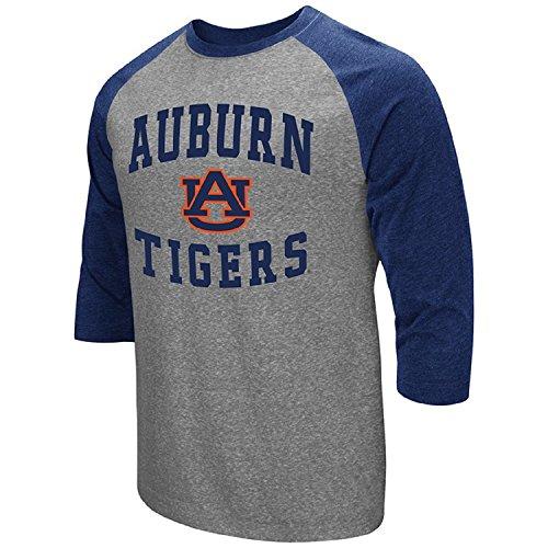 - Colosseum Men's NCAA-Raglan-3/4 Sleeve-Heathered-Baseball T-Shirt-Auburn Tigers-Large