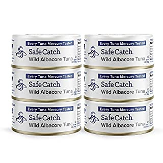 Safe Catch Wild Albacore Tuna, 5 oz Can (Pack of 6). The Only Brand to Test Every Tuna for Mercury
