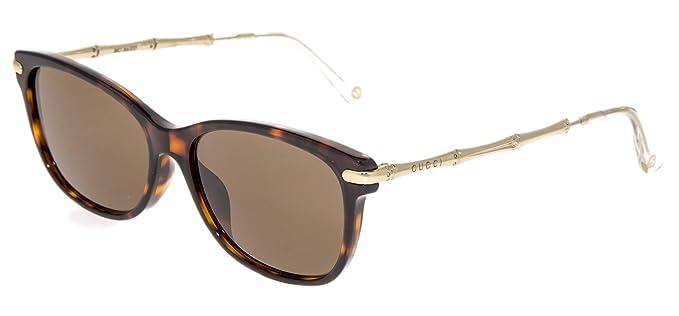 b26aeaefa8c Amazon.com  GUCCI 3772 Gold Metal Bamboo Havana Bio Based Eyeglasses ...