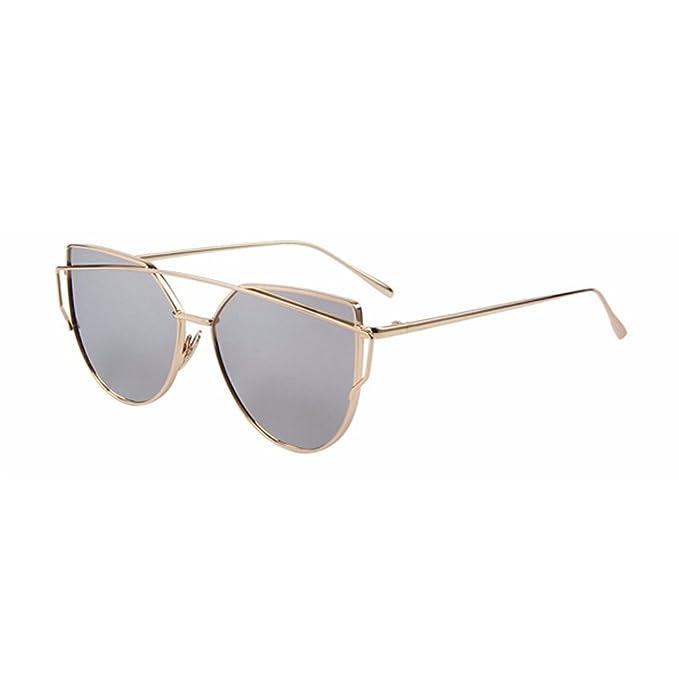Amazon.com: Moda mujeres ojo de gato anteojos de sol clásico ...