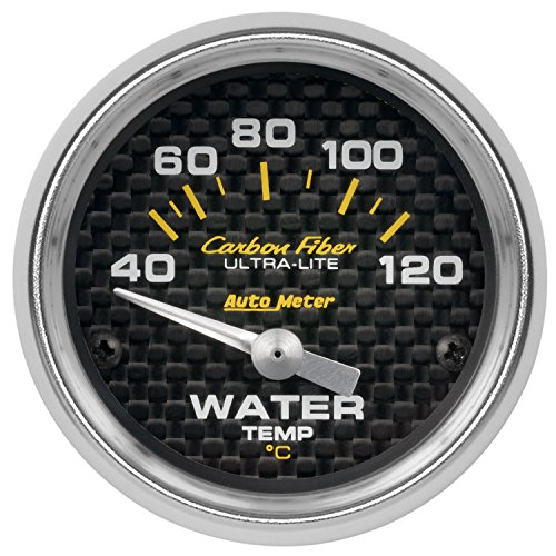 (AutoMeter 4737-M Carbon Fiber Electric Water Temperature)