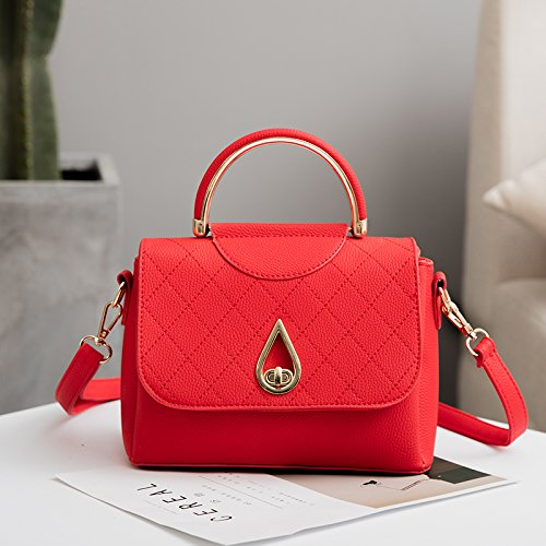 Burenqi@ Paquetes paquetes hembra/rampa lineal/Air Bag/hebilla pequeña Package/bolso único, Rojo El rojo