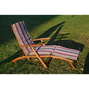 Hercules Reclining Hardwood Chair Sun Lounger Recliner Folding Garden Furniture
