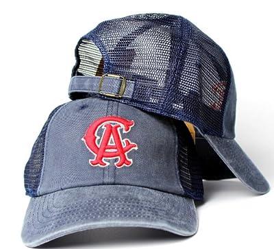 California Angels MLB American Needle Raglan Bones Soft Mesh Back Slouch Twill Cap