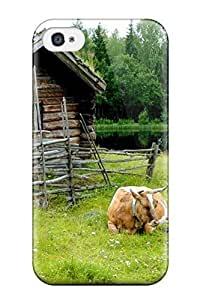 DanMarin Perfect Tpu Case For Iphone 4/4s/ Anti-scratch Protector Case (the Cabin And The Cow)