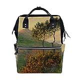 Backpack School Bag Monet Church Sun Canvas Travel Doctor Style Daypack