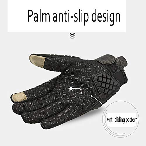AINIYF Tactical Gloves | Carbon Full Finger Motorcycle Gloves Men Summer Offroad Locomotive Drops Sports Gloves Racing Rider (Color : Black, Size : L) by AINIYF (Image #4)