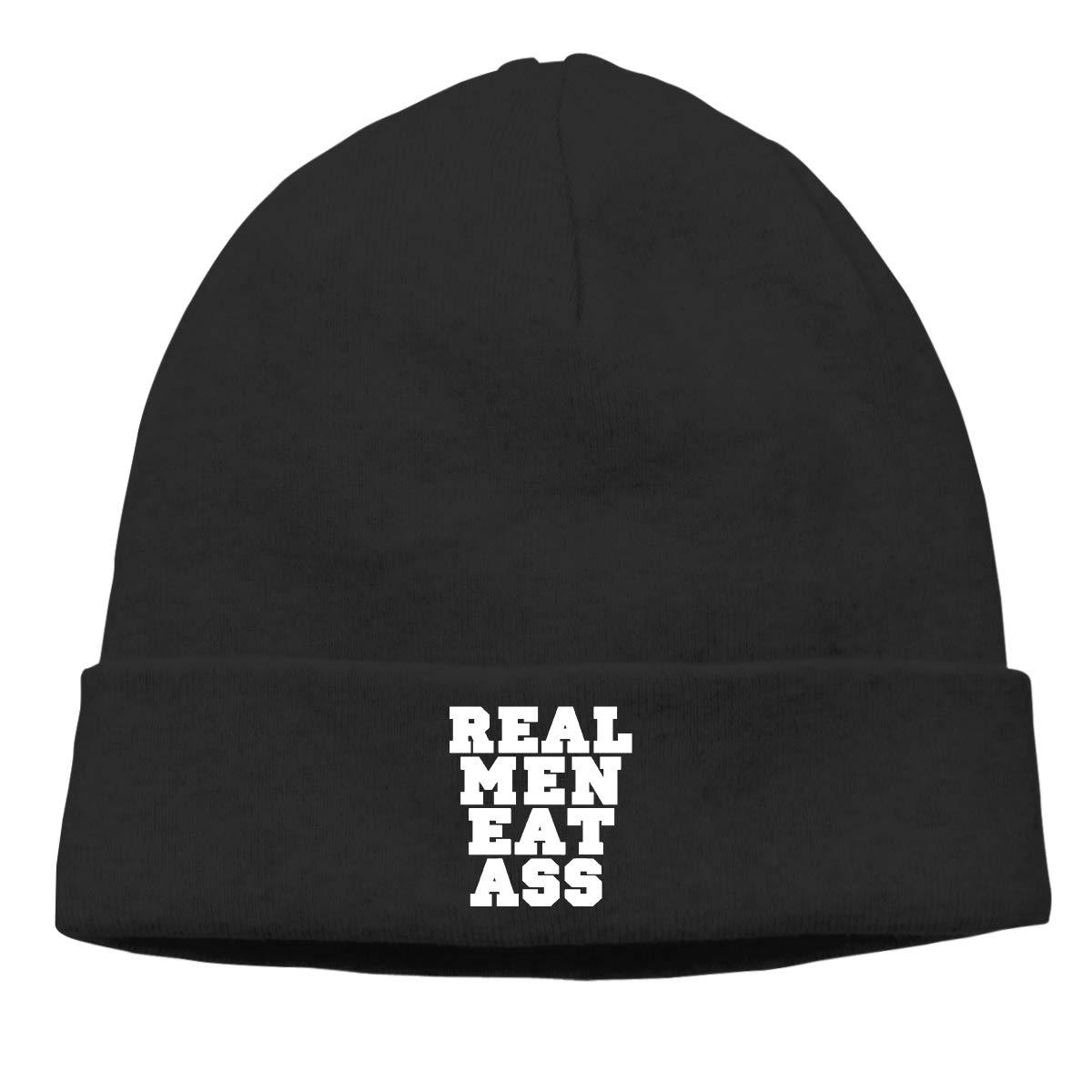 Real Men Eat Ass Logo Men Women Warm /& Stylish Beanie Skull Cap
