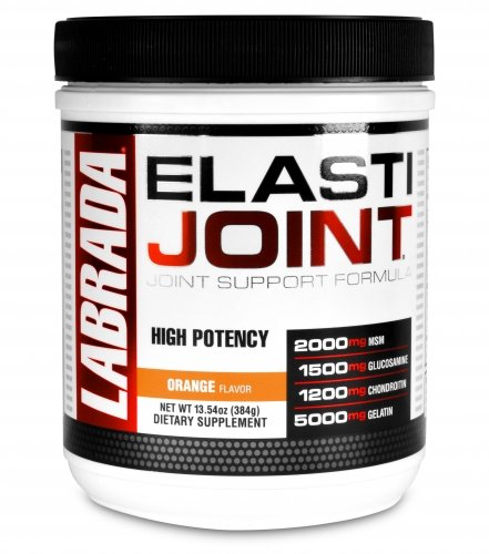 Labrada Elastijoint - Joint Support Powder, All In One Drink Mix with Glucosamine Chondroitin, MSM and Collagen, Orange, 30 Servings by Labrada