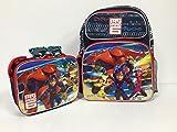 Disney Big Hero 6 Baymax Hiro Combo - 16'' Large School Backpack, Insulated Lunch Bag and Hero Sunglasses Set