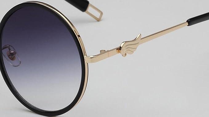 WYFC Occhiali da sole per donna, occhiali stile europeo e americano Occhiali da sole con montatura in metallo UV400, Multicolor Opcional , b