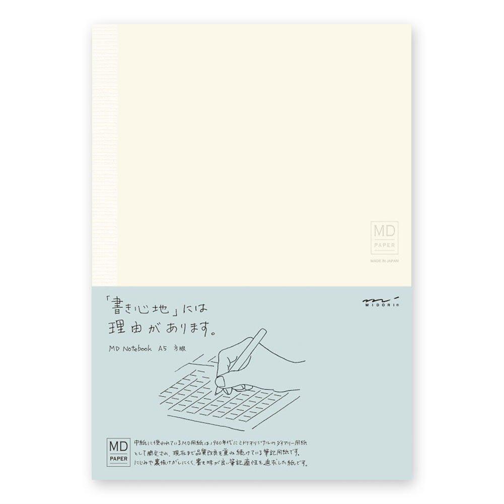 Cuaderno Hojas Lisas Midori Md Notebook A5 Cuadriculadas