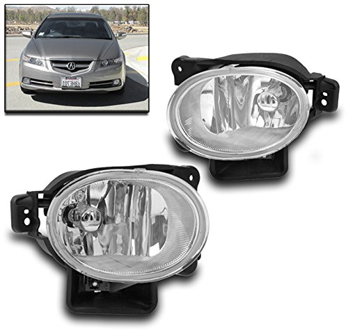 ZMAUTOPARTS Acura Tl Bumper Driving Fog Lights Lamps JDM Chrome Clear W/Bulb New Set