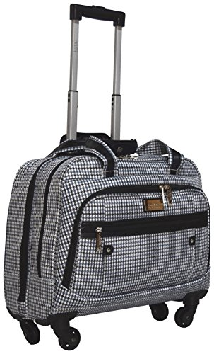 Nicole Miller Taylor Carry On Spinner Briefcase (Blue Plaid)