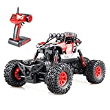 #9: Gizmovine RC Rock Crawler 4WD 4 Modes Steering Waterproof 2.4Ghz Radio Control Toy Monster Truck Off Road (1/16 Scale) Red ZC0005-U1