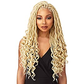 'Sensationnel Synthetic Hair Lace Front Wig Cloud 9 Swiss Lace 4X4 Multi Parting Braid Lace Wig Goddess Locs (1)