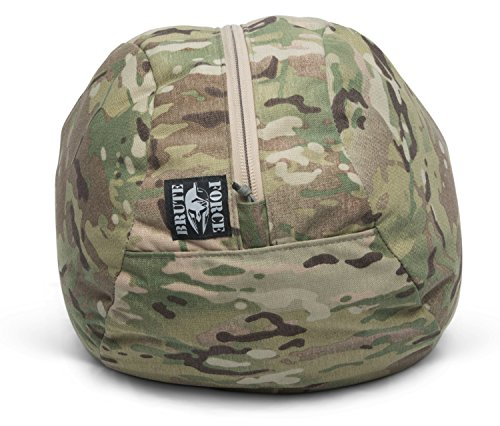 Soft Stone (Brute Force Sandbags Brute Ball - Sandfilled Atlas Stones + Adjustable Soft Stones Heavy Ball - Small up to 70 Ibs - Camo)