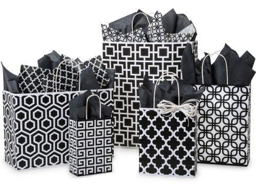 BLACK GEO GRAPHICS Assortment125 bags, 5 sizes 1 unit, 125 pack per unit.