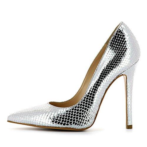 Lisa Escarpins Serpent Evita Imprimé Shoes Femme Argent Optique gqwC7aC