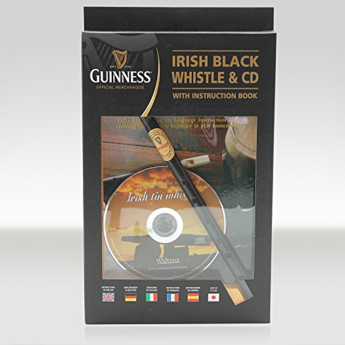 Handcrafted Tin - Guinness Irish Tin Whistle with Book & CD – Delivery from Ireland 6-9 Days