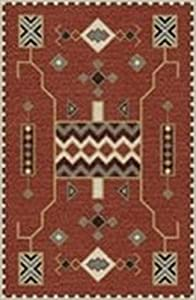Rizzy Home Mesa Collection Wool Area Rug, 5' x 8', Red/Multi Southwest/Tribal