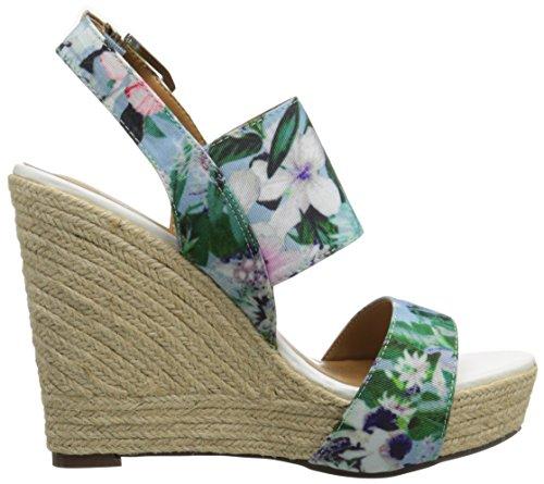 Report Blue Women's Signature Sandal Cass Floral Wedge vrwvRqzpA