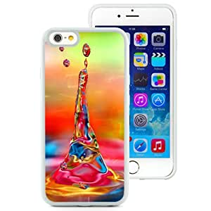 Fashion Custom Designed Cover Case For iPhone 6 4.7 Inch TPU Phone Case With Colorful Water Drop_White Phone Case