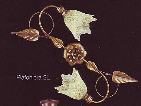 Plafoniere Per Cucina Classica : Ilbottegone plafoniera classica luci in metallo lampada da