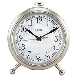Equity by La Crosse 25655 Metal Alarm Clock, Silver, Small