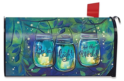 Spring Mailbox Cover - Briarwood Lane Be a Light Spring Mailbox Cover Inspirational Candles Standard