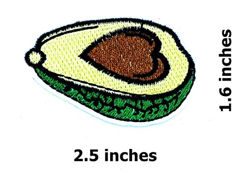 Avocado Heart Fruit Healthy Vegan Cartoon Children Kid Patch Clothes Bag T-Shirt Jeans Biker Badge Applique Iron on/Sew On Patch