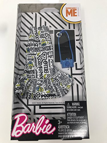 Barbie Despicable Me White Ruffle Bottom Dress Fashion Pack