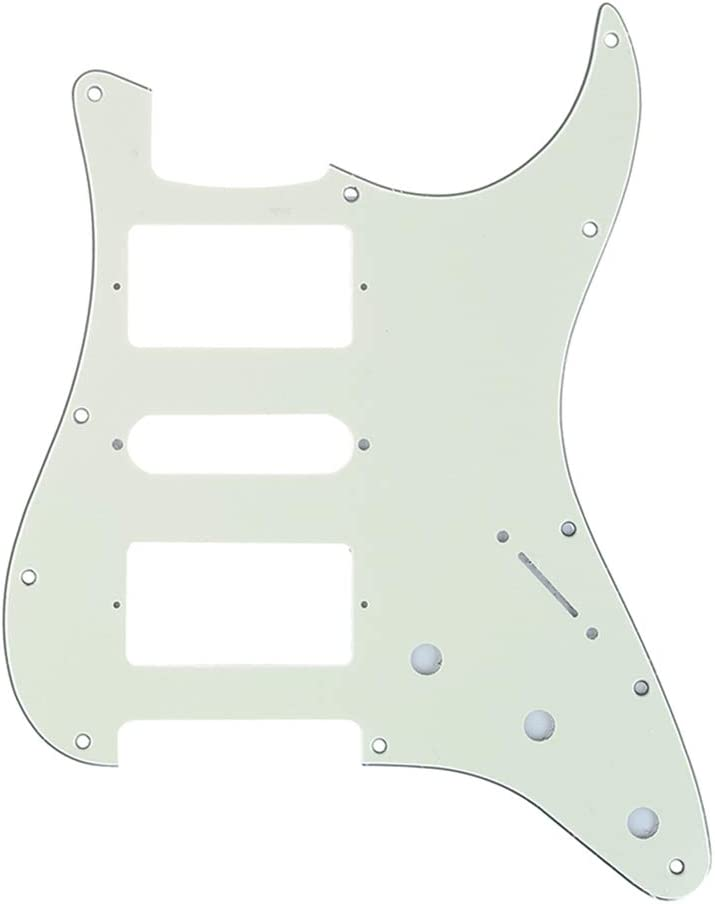 4Ply Black Pearl Musiclily Pro 11 Hole HSH Guitar Strat Pickguard Humbucker for Fender American//Mexican Standard Stratocaster Modern Style