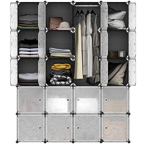 20 Cube Modular Wardrobe Organizer Clothes Shoes Cabinet