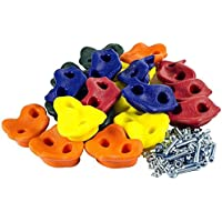 20x Indoor Outdoor Board or Wall Textured Climbing Rock Wall Stones Holds Hand Feet Kids Assorted Set Random Colours (Set of 20)