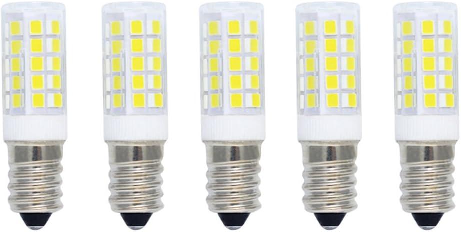 Bombilla Maíz LED 5W E14 Equivalente a Bombilla Halógena 40W,400LM,Blanco Frío(6000K),Bombillas LED de Ahorro de Energía,Bombillas SES LED,Angulo de Haz de 360 ° No Regulable AC220-240V,5 piezas: Amazon.es: Iluminación