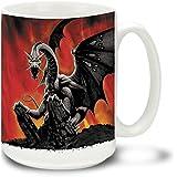 Black Dragon - 15 oz Large Ceramic Coffee Mug
