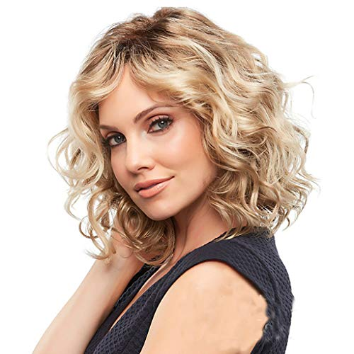 Curly Human Hair Wigs Brazilian Human Baby Glueless Lace Front Kinky Gold Women Anti-Warping -